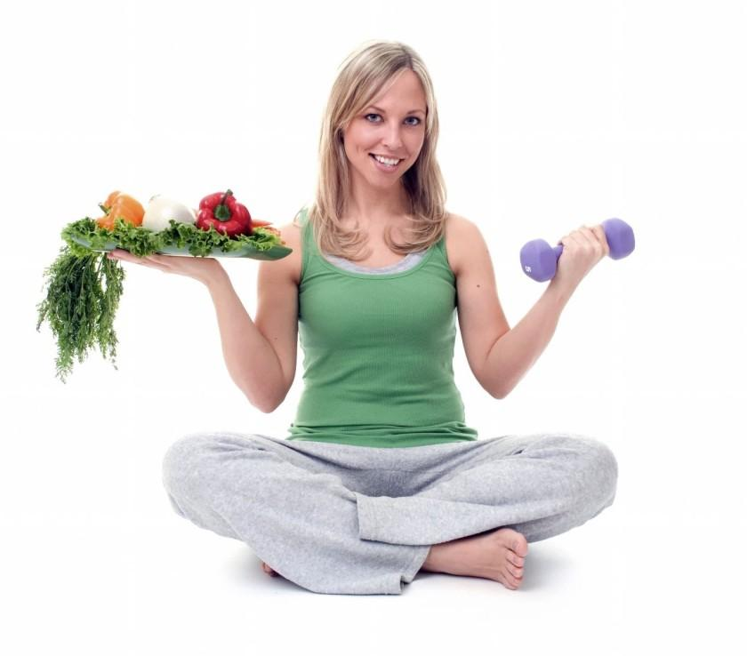 Рацион спортивной диеты для девушек