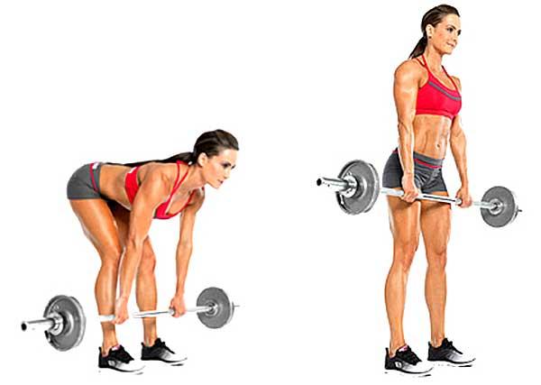 Становая тяга на согнутых ногах