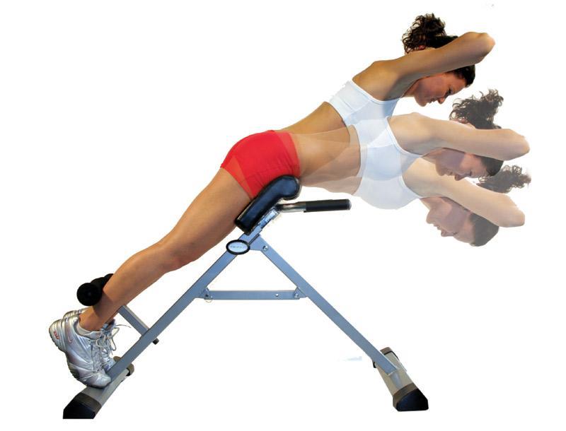 Гиперэкстензия для спины у женщин