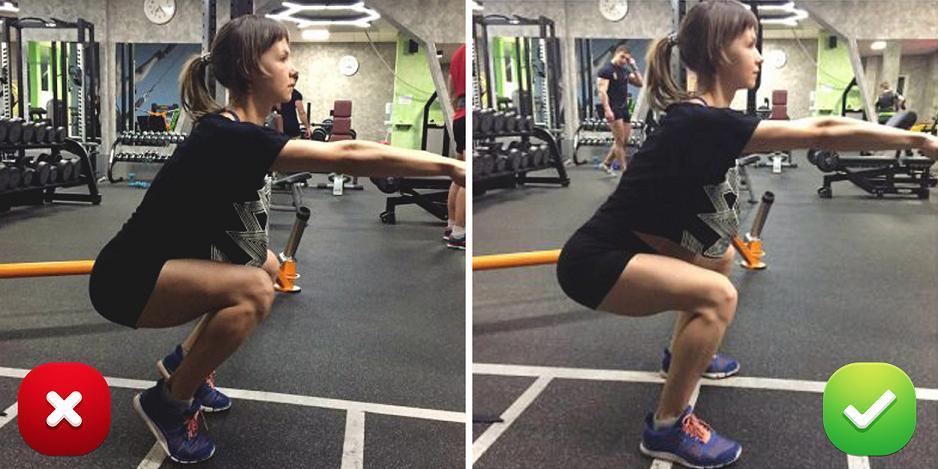 Неправильная техника выполнения упражнений