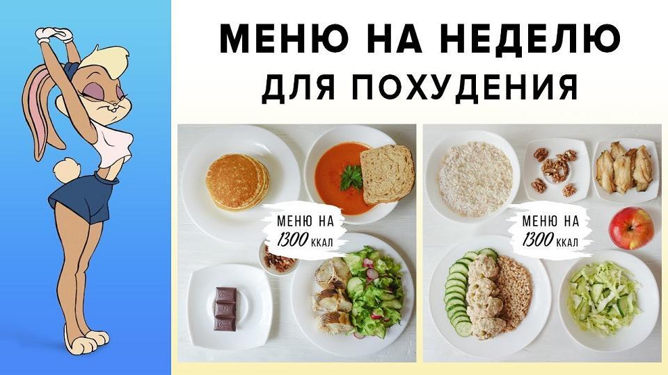 Готовая диета для похудения — меню на неделю