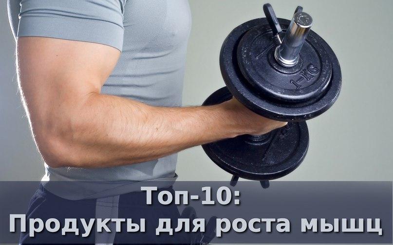 Топ продуктов для роста мышц