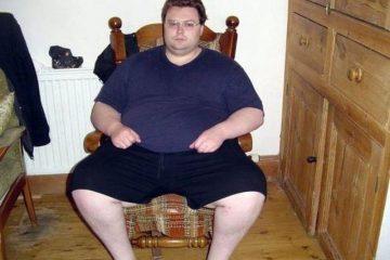 Мужчина набрал лишний вес